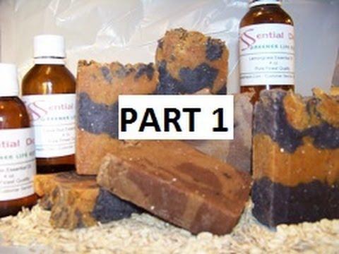 How to Make Hot Process Goats Milk Lye Soap PART 1