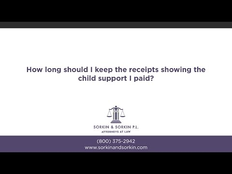 How long should I keep the receipts showing the child support I paid?