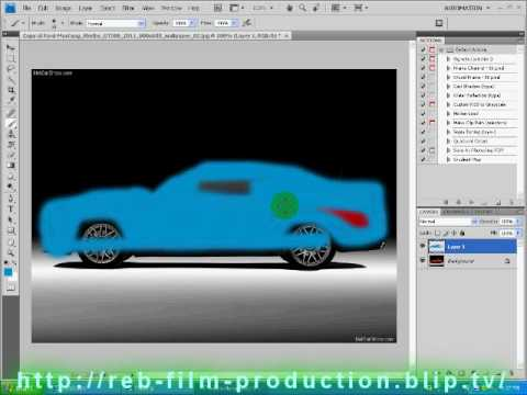 Photoshop CS4 Tutorial: How to change the color of a car