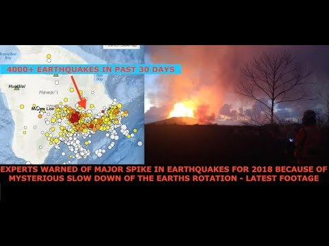 Earths Rotation Mysteriously Slowing, Experts Warn Global Spike in EQ's & Live Footage of Kilauea