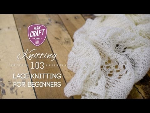 Knitting 103 Lace Knitting for Beginners Promo