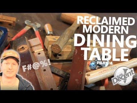 RECLAIMED MODERN DINING TABLE pt 4 - Breadboards, Glue, and DISASTER