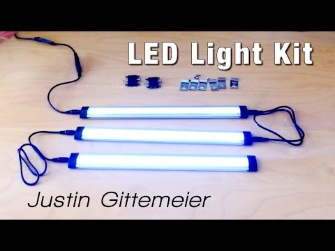 3 Panel LED Light Kit - Unboxing & Install - Inexpensive LED Lighting