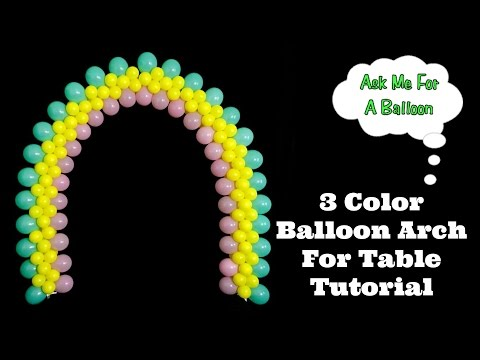 3 Color Flat Balloon Arch Tutorial