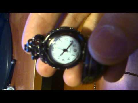 Black Ball Pocket Watch Pendant Necklace Chain  CHINABUYE