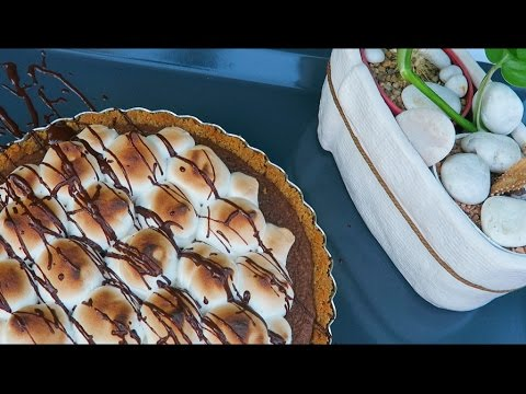 S'MORES TART: DELICOUS, CHEWY, CRUNCHY  (ASMR)