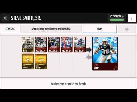 Completing the Steve Smith Legendary Set ||| Madden Mobile
