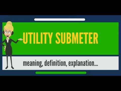 What is UTILITY SUBMETER? What does UTILITY SUBMETER mean? UTILITY SUBMETER meaning