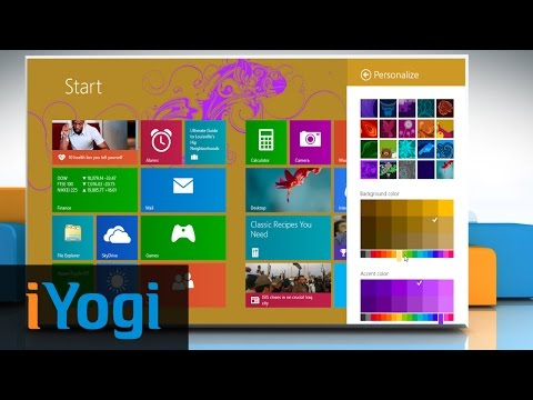 How to change background color & theme on Windows® 8.1