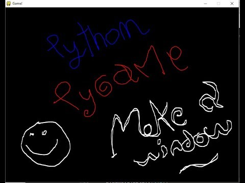 Python: make a window with pygame