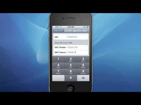 Avaya one-X Mobile Lite Set-Up Instructions