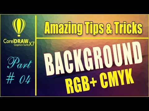 Coreldraw x7 Amazing Tips & tricks How to Create Colorful Background Using interactive fill tool