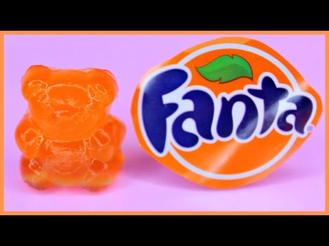 DIY FANTA SODA GUMMY BEARS! How To Make Fanta Soda Gummy Bears!