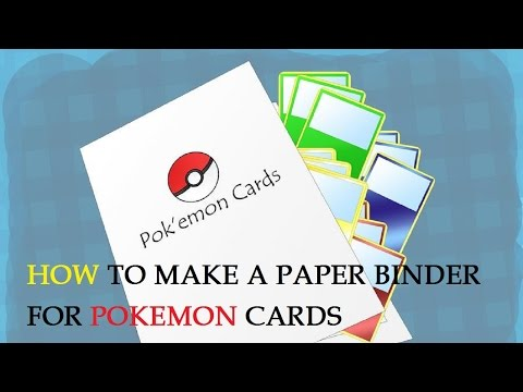 How to Make a Paper Binder for Pokemon Cards