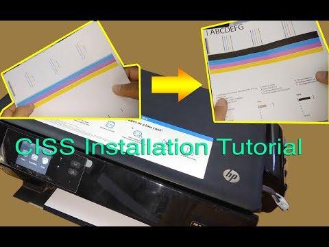 CISS Installation on HP Deskjet Ink Advantage 4515, 4535, 3545, or similar