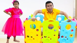 Jannie Pretend Play Learning Shapes for Kid Toys   Fun Educational Video for Children