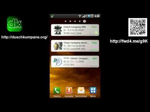 Gameserver App for Android Demonstration