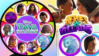 Disney Raya And The Last Dragon Spinning Wheel Game Heroes VS Villains