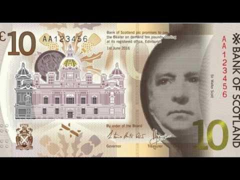 Bank of Scotland unveils new £10 plastic note design