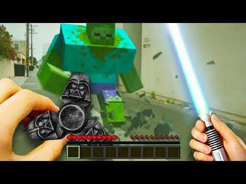 Minecraft In Real Life - STAR WARS FIDGET SPINNER LIGHTSABER! (Realistic Minecraft)