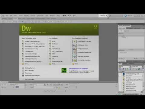 A Quick Overview of the  Dreamweaver Interface