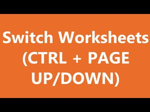 Excel Shortcuts - Switch Tabs