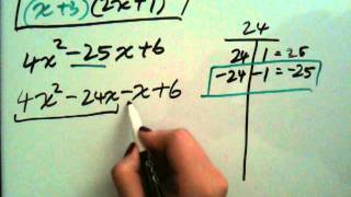How To Factor Trinomials Ax2bxc