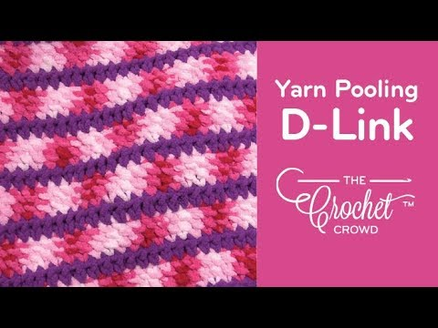 How to Yarn Pool using Double Link Crochet: D-Link Pooling