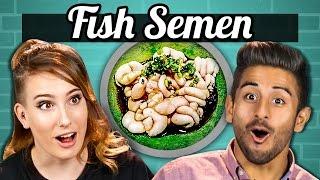 EATING FISH SEMEN (Shirako) (Adults vs Food)