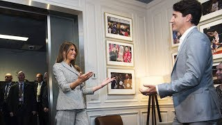Justin Trudeau and family meet with Melania Trump