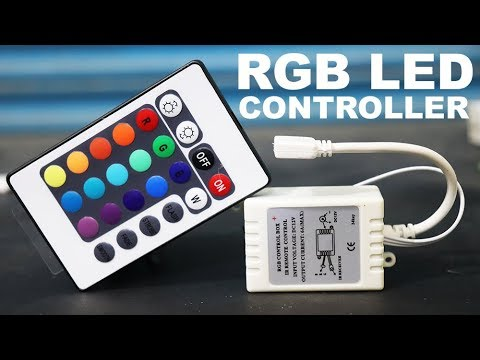 12V 24 KEY RGB LED REMOTE CONTROLLER EASY WAY UNBOXING
