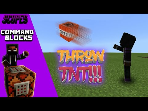 MCPE Tutorials: How to Throw TNT | Command Blocks