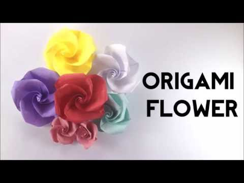 How to Make Easy Origami Flower - Origami Instructions - Paper Flower - DIY - Paper Crafting