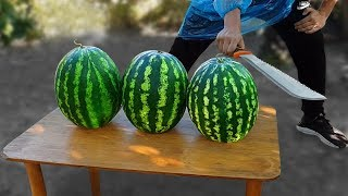 Experiment: Machete Vs Watermelons