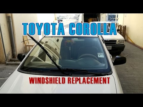 Car Windshield Replacement in detail - Toyota Corolla - Sharjah, UAE