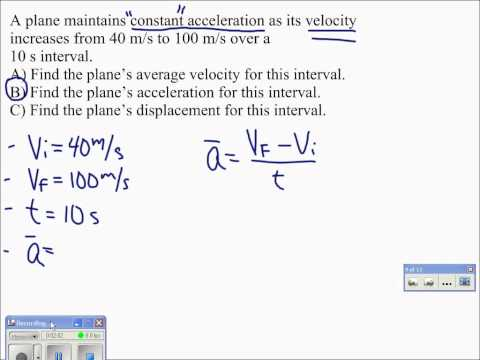 07 Average Acceleration Problem