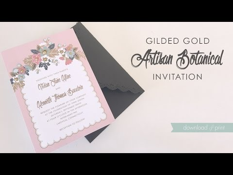 DIY Gilded Gold Wedding Invitation