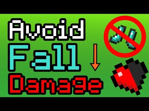 Avoid taking Fall Damage without Feather Falling Boots!   Minecraft