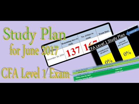 Study Plan for The June 2017 CFA Level 1 exam (V2)