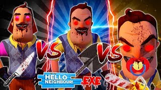 Minecraft HELLO NEIGHBOR FAMILY.EXE CHALLENGE - WHO IS THE STRONGEST FAMILY MEMBER??