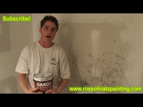 Apply Zinsser Gardz Primer/Sealer to New Drywall  - Drywall repair and protection (Part 1)
