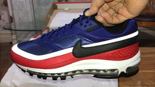 20a63a667e Nike Air Max 97/BW Deep Royal Blue/Black Sneakers Trainers Unboxing and on