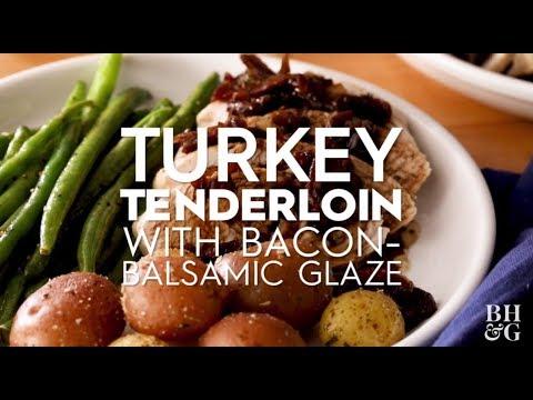 Turkey Tenderloin with Bacon-Balsamic Glaze