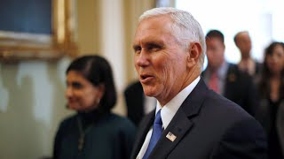 Pence meets with local business leaders and families