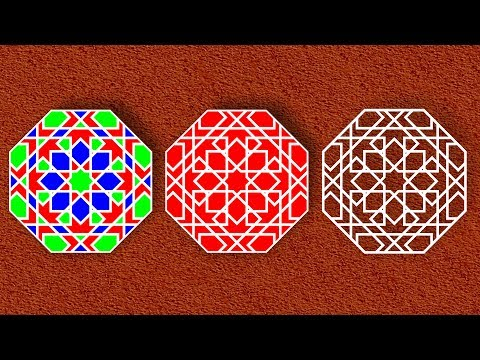 Islamic shapes and islamic geometric patterns design - tutorial corel draw - 01