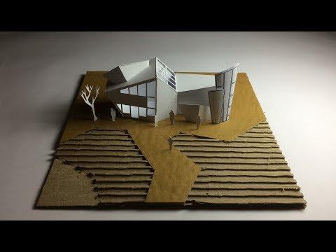 Modern Architecture contemporary building model-
