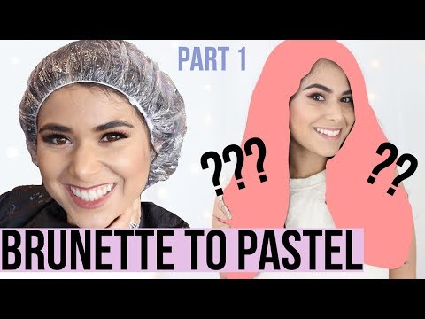 WHAT REALLY HAPPENS: Dying Dark Brown Hair to Pink 💕 PART 1