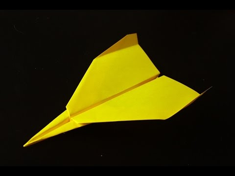 Paper plane instruction and flight test.