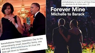 Download Valentine's Day: Barack Obama sends message to Michelle - She does get down to Motown Video