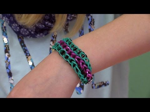 Easy Rainbow Loom Project: How to Make a Triple Single Bracelet